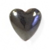 Magnetic Puffy Heart 6mm 16in Strand Hematite